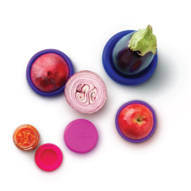 Food Huggers Bright Berry  - set van 5 - zero plastic