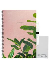 Ringband A4 notitieboek - Pink Planter - uitwisbaar papier - MOYU