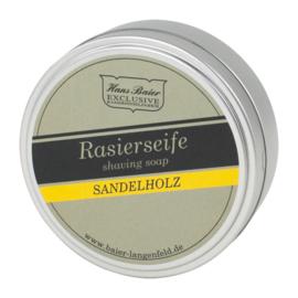 Scheerzeep voor men - Sandelhout - 65 gram - Hans Baier