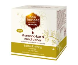 Shampoo bar & conditioner 2 in 1 - Jojoba & honing - De Traay
