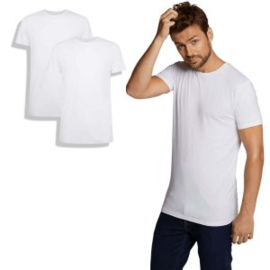 T-Shirt Ruben • ronde hals (2-pack) - Wit - Bamboo Basics