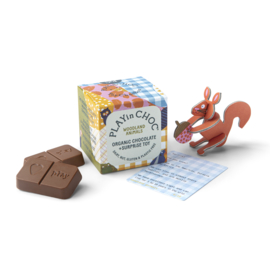 Chocolade kindersurprise WOODLAND - vegan & zero plastic - PlayinChoc