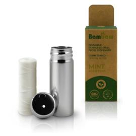 Natuurlijke floss - Mint 50m - Bambaw