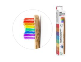 Kindertandenborstel regenboogkleuren - bamboe - vanaf 0 jaar - Humble brush