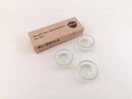 Waxinelichtjeshouder Herbruikbaar - GLAS - Biokema