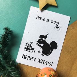 """Bloeikaart van BLOOM your message """"Merry Xmas!"""""""