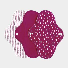 Wasbaar maandverband regular sangria 3 stuks - ImseVimse