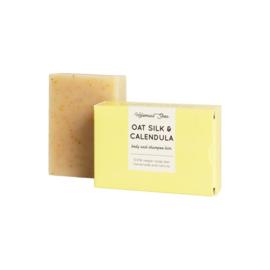 Haverzijde & Calendula haar- en bodyzeep (droog/stug haar) 100 gram - HelmaalShea