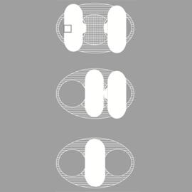 Wasbare inlegkruisjes Snap-Free zwart 3 stuks - ImseVimse