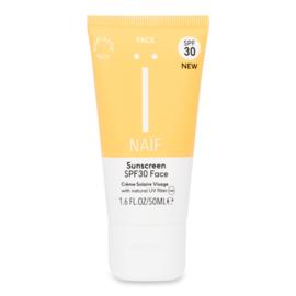 Natuurlijke zonnebrandcrème GEZICHT SPF30 - zero plastic - Naïf