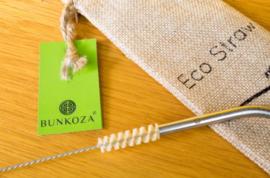 Rietjes bamboe herbruikbaar 6 stuks - Bunkoza