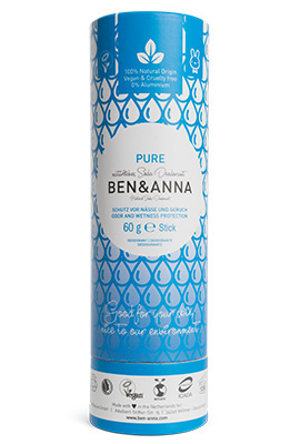 Deodorant stick 60 gram Pure - Ben & Anna