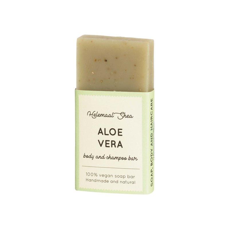 Body & shampoo bar - mini - Aloë Vera - HelemaalShea