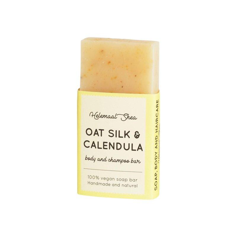 Body & shampoo bar - mini- Haverzijde & Calendula - HelemaalShea