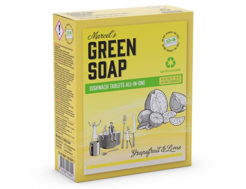 Vaatwastabletten Grapefruit en Limoen - Green Soap