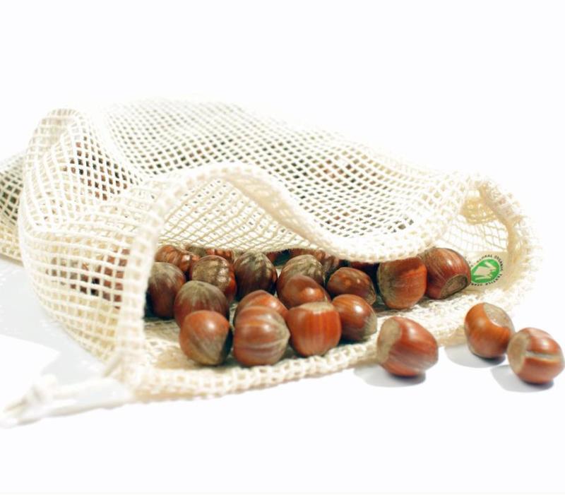 Groente en fruit netje van bio katoen Maat S - Boweevil