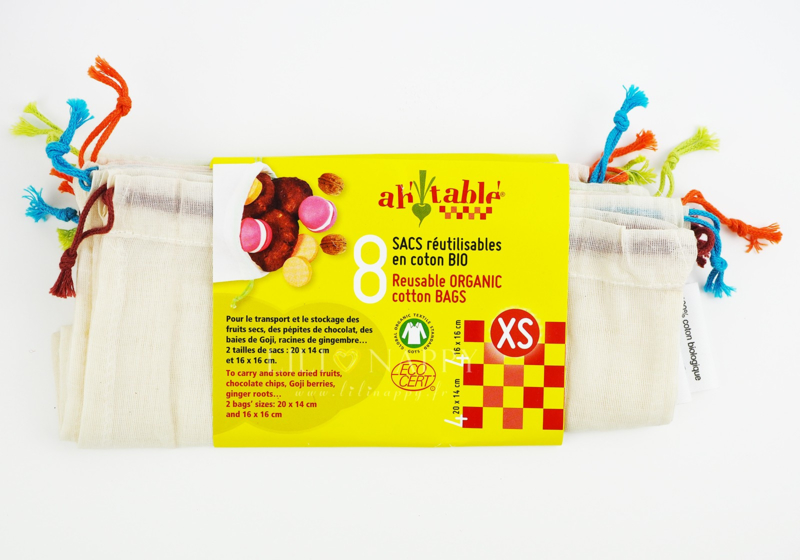 Groente & fruit zakjes maat XS 8 stuks - ah table