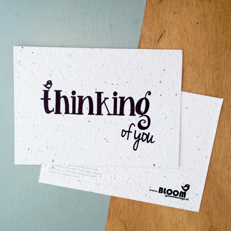 "Bloeikaart van BLOOM your message ""Thinking of you"""