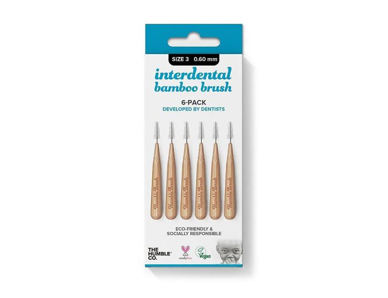 Interdentale ragers bamboe 6 stuks - 0,6mm - Humble Brush