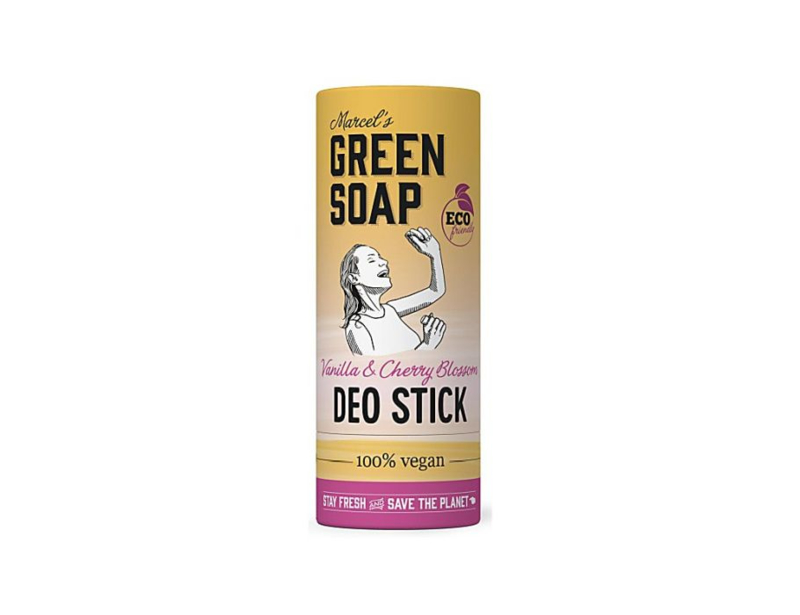 Deodorant Stick - Vanilla & Cherry Blosssom 40 gram - Marcels Green Soap