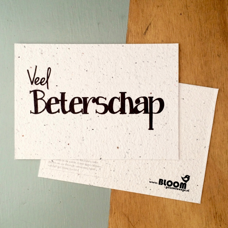 "Bloeikaart van BLOOM your message ""Beterschap"""