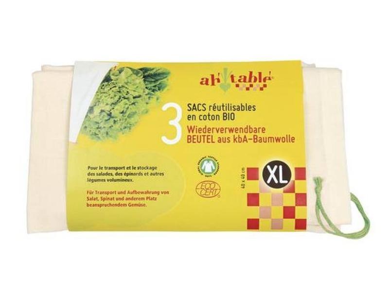 Groente & fruit zakjes maat XL 3 stuks - ah table