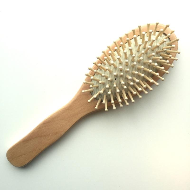 Haarborstel met houten knoppen - Croll en Denecke