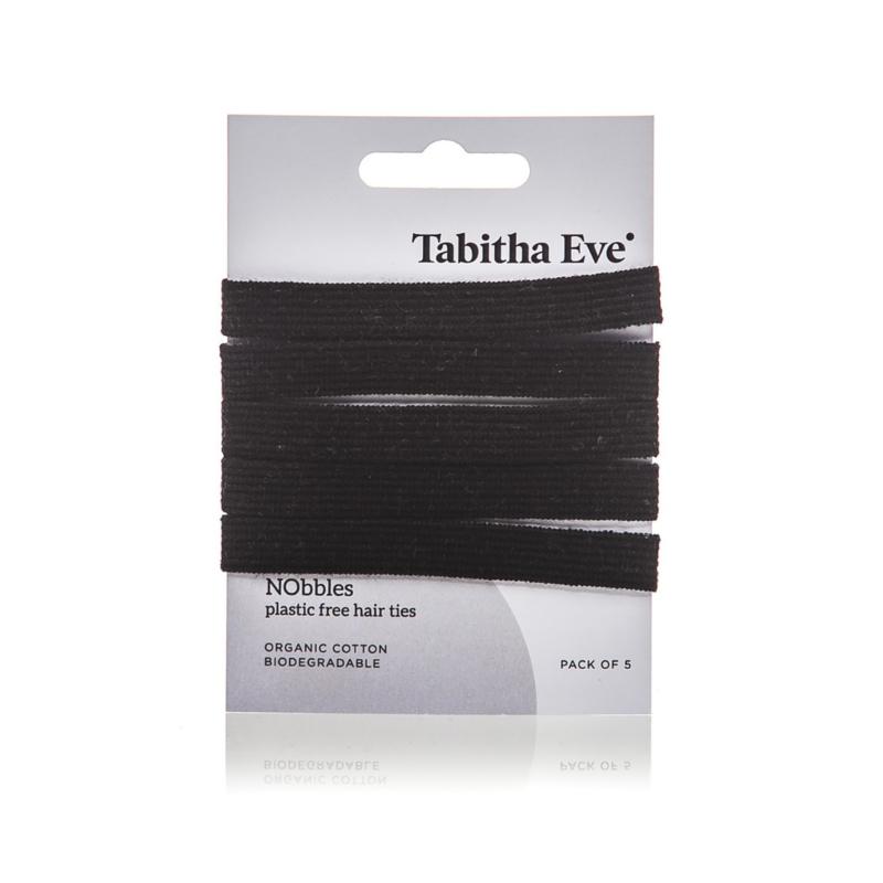 Haar elastiekjes plasticvrij - zwart - Tabitha Eve
