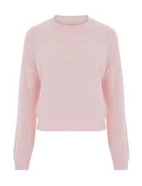 Cropped sweater pink