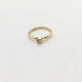 Ring steentje goud of zilver