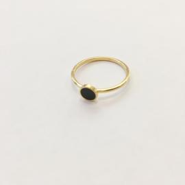 Ring zwart plaatje goud of zilver