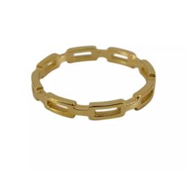 Ring open stripe goud