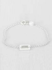 Zilveren armband parel