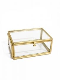 Glazen kistje goudkleurig