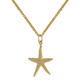Starfish ketting goud
