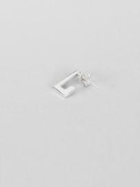 Zilveren oorbellen rechthoek