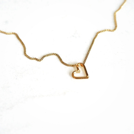 Ketting groot hart goud