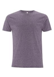Shirt basis fit antraciet of donkerpaars gemeleerd