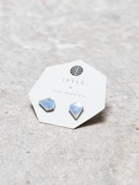 Oorbellen keramiek -diamond