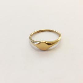 Ring kleine zegel goud of zilver