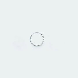 Hoop Earring Diamond Cut zilver