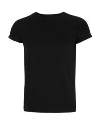 Shirt rolled sleeve - zwart
