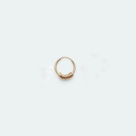 Hoop Earring Tiny Rings goud