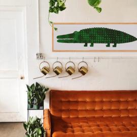 Poster - Extreem lange krokodil