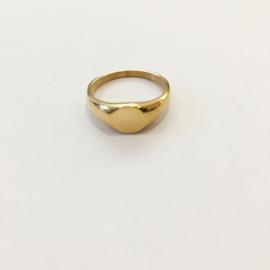 Ring grote zegel goud of zilver