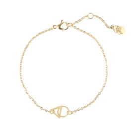 Triangle cirkel armband goud