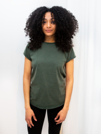 Organic shirt gebleekt zwart-rood-groen-blauw