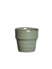 Plantenpotje groen grijs