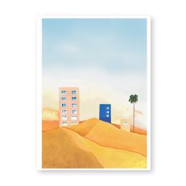 City in the desert - Art print