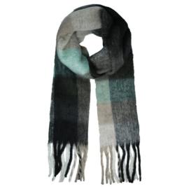 Checked sjaal zwart